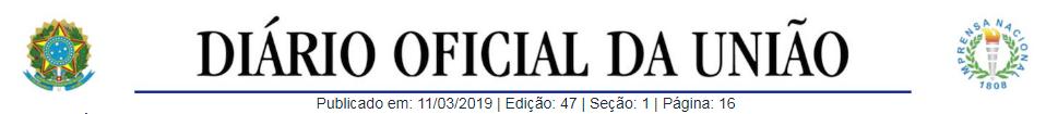 Diário Oficial da União DOU